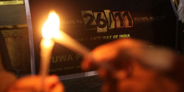 MUMBAI, INDIA - NOVEMBER 26: Citizens pay tribute to 26/11 martyrs on the fifth anniversary of the 26/11...