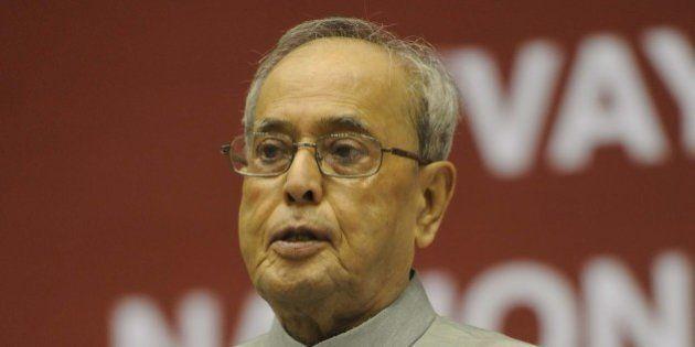 NEW DELHI,INDIA OCTOBER 01: The President, Pranab Mukherjee conferred the Vayoshreshtha Samman 2015 on...