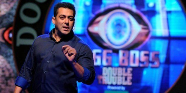 Indian Bollywood actor Salman Khan performs at the launch of the Indian reality television show Bigg...
