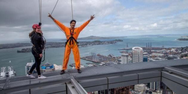 Sidharth Malhotra Sky-Walks On Auckland's Tallest Tower, Clicks Selfie With NZ PM John