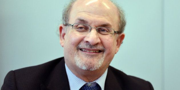 FRANKFURT AM MAIN, GERMANY - OCTOBER 13: Author Salman Rushdie attends the press conference of the 2015...