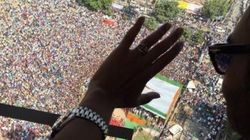 Actor Ajay Devgn Arrives Late For Bihar Rally, Crowd Goes Crazy, 12