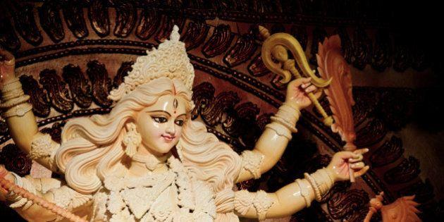 Goddess Durga at puja, Dhaka,