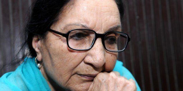 PATIALA, INDIA - OCTOBER 13: (Editors Note: this is exclusive shoot of Hindustan Times) Punjabi novelist...