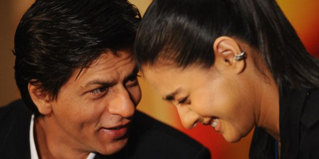 LONDON, ENGLAND - FEBRUARY 03: Shah Rukh Khan and Kajol attends the 'My Name Is Khan' press conference...