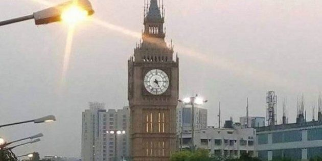 Seen The Viral Photo Of The Big Ben Replica In Kolkata? It Is NOT A Durga Puja