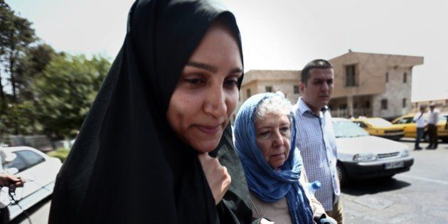 Mary Rezaian (R), the mother of detained Washington Post correspondent Jason Rezaian and his wife Yeganeh...