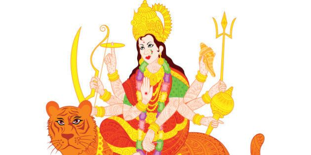 easy to edit vector illustration of Goddess