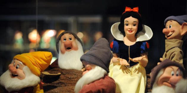 A statue of Snow White and the Seven Dwarfs owned by Michael Jackson is seen on display in Beverly Hills,...