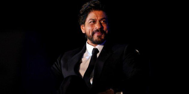 Indian Bollywood actor Shah Rukh Khan looks on during a promotional event in Mumbai on late July 19,...