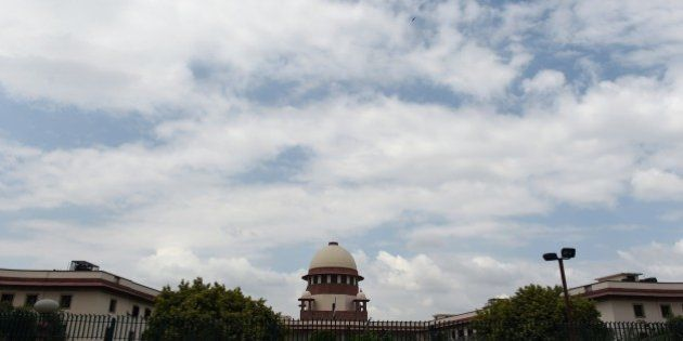 A view of the Indian Supreme Court in New Delhi on July 28, 2015. India's Supreme court has referred...
