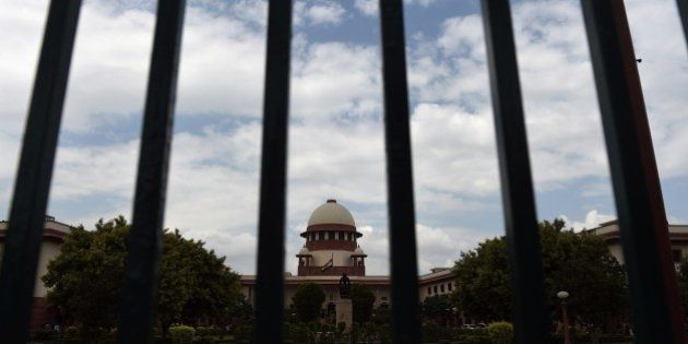 A view of the Indian Supreme Court in New Delhi on July 28, 2015. India's Supreme court refered Yakub...