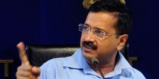 NEW DELHI, INDIA - OCTOBER 9: Delhi Chief Minister Arvind Kejriwal during a press conference, announcing...