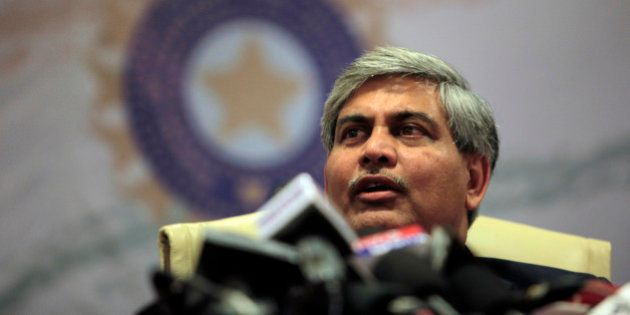 Board of Control for Cricket in India (BCCI) head Shashank Manohar speaks during a media conference in...