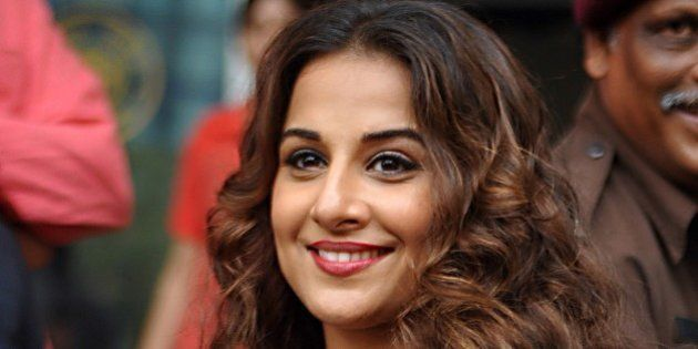 Indian Bollywood actress, Vidya Balan inaugurates the exhibition 'Chaplin Lines' to honour the legendary...