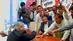 Shiv Sena Activists Storm BCCI Office In Mumbai, Raise Slogans Against PCB Chief Shahryar
