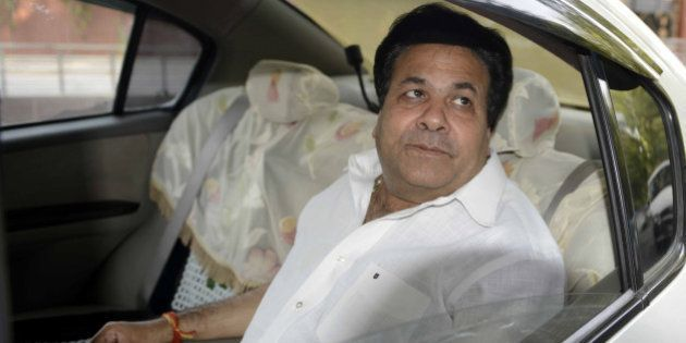 NEW DELHI, INDIA - MAY 29: Rajeev Shukla going to attend Congress spokespersons meeting on Wednesday....