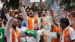 Shiv Sena Workers Protest Against India Playing Cricket With