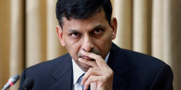 Newly appointed Reserve Bank of India (RBI) Governor Raghuram Rajan attends a press conference at the...
