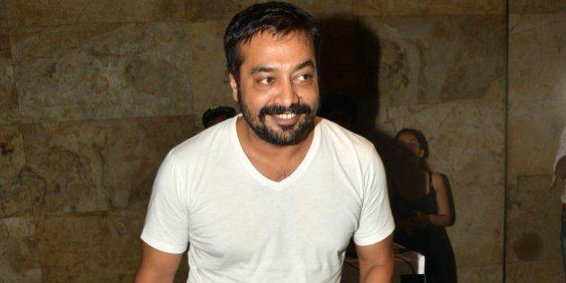 MUMBAI,INDIA MAY 19: Anurag Kashyap at the screening of his movie Tannu weds Mannu in Mumbai.(Photo by...