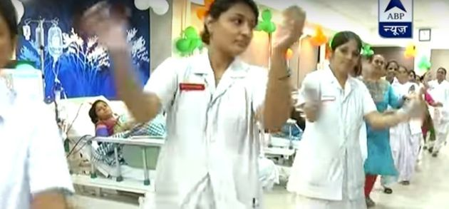 WATCH: Medical Staff At Gujarat Hospital Perform Garba Inside The ICU