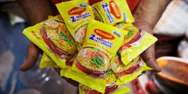 Packets of Maggi 2-Minute Noodles, manufactured by Nestle India Ltd., which were located behind the counter...