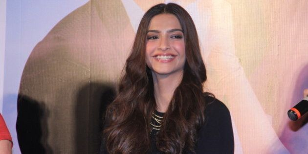 MUMBAI, INDIA - SEPTEMBER 1: Bollywood actor Sonam Kapoor during the launch of Dheere Dheere se, music...