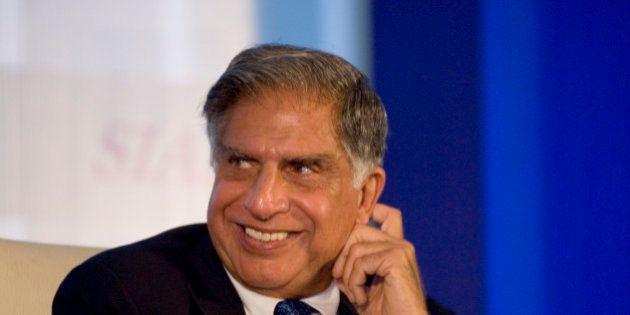 NEW DELHI, INDIA SEPTEMBER 4: Chairman of Tata Motors Ratan Tata at the SIAM Annual Convention 2008 'India's...