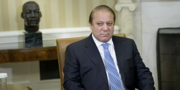 Pakistan's Prime Minister Nawaz Sharif waits for a meeting with US President Barack Obama in the Oval...