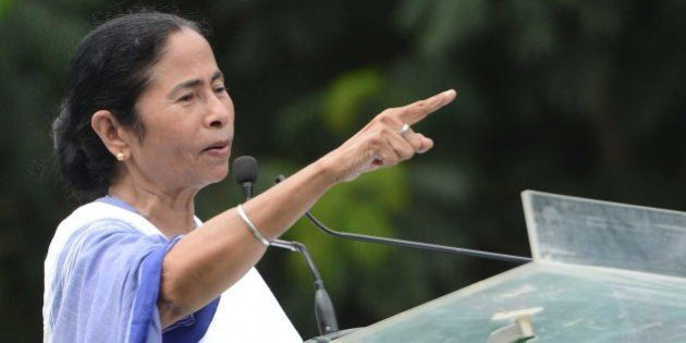 KOLKATA,INDIA AUGUST 28: Trinamool Congress Chief and West Bengal Chief Minister Mamata Banerjee addressing...