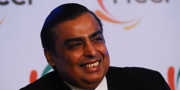 NEW DELHI, INDIA - MARCH 1: Mukesh Ambani, Chairman and Managing director of Reliance Industries at 83...