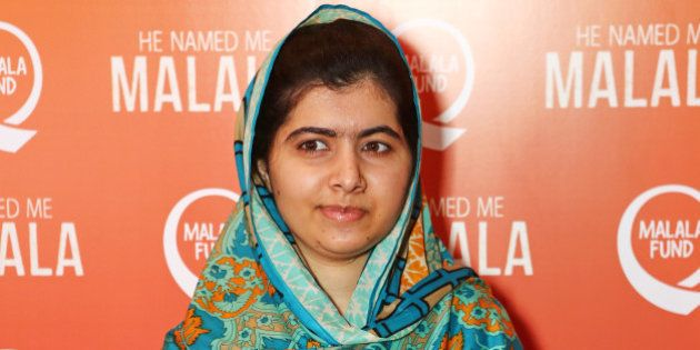 LONDON, ENGLAND - OCTOBER 22: Malala Yousafzai attends a special screening of 'He Named Me Malala' on...