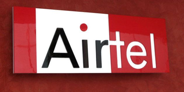 The Bharti Airtel Ltd. logo is displayed at the company's office in Gurgaon, India, on Thursday, Sept....