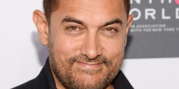 Indian actor Aamir Khan attends the Sixth Annual Women in the World Summit opening night at David H....