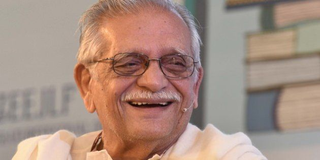 JAIPUR, INDIA - JANUARY 24: Indian poet, lyricist and film director Gulzar during the session 'Nazm Ulhji...
