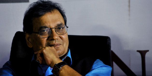 Indian Bollywood film producer and director Subhash Ghai poses for a photograph during a promotional...