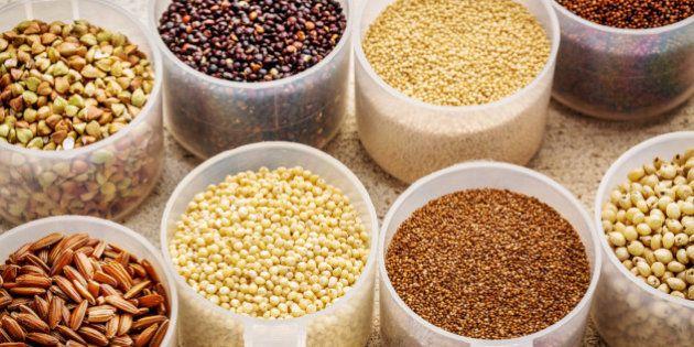 gluten free grains (quinoa, brown rice, kaniwa, amaranth, sorghum, millet, buckwheat, teff) - plastic...