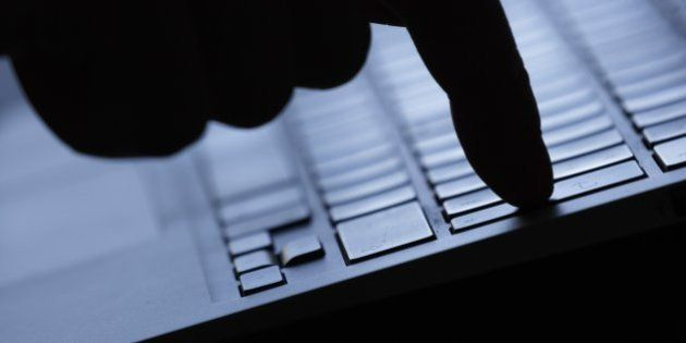 BERLIN, GERMANY - AUGUST 20: Symbolic feature with topic online crime, data theft and piracy, here a...