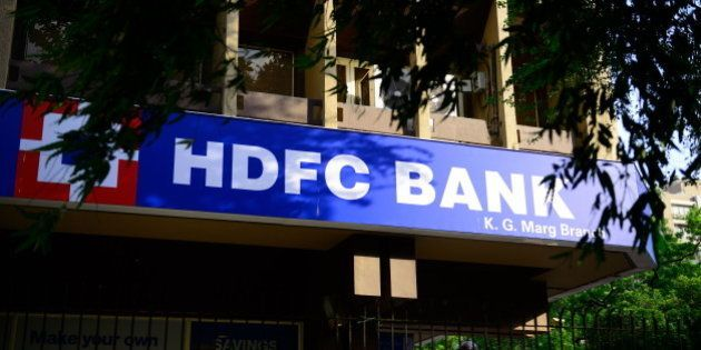 NEW DELHI, INDIA - AUGUST 15: Branch of HDFC Bank at KG Marg on August 15, 2014 in New Delhi, India....