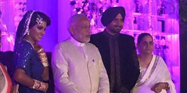 PHOTOS: PM Modi Pops In At Harbhajan Singh's