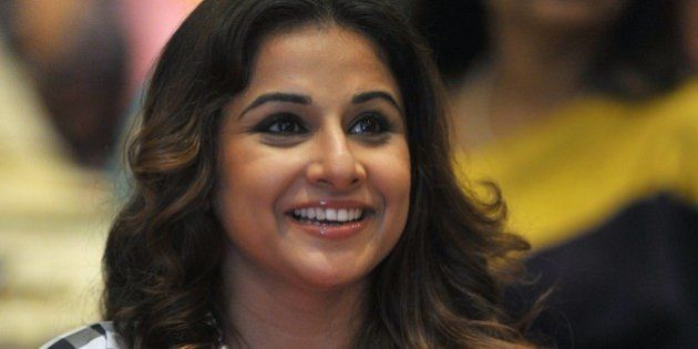 Indian Bollywood actress Vidya Balan attends a panel session on handlooms organized by FICCI Ladies Organization...