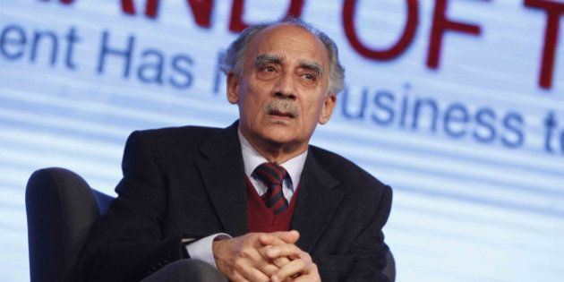 NEW DELHI, INDIA MARCH 07: Arun Shourie during the India Today Conclave 2014 in New Delhi.(Photo by Pankaj...