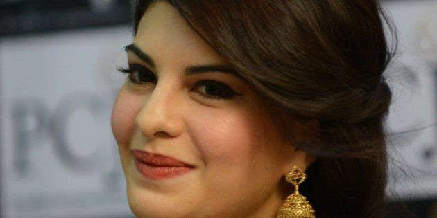 Indian Bollywood actress Jacqueline Fernandez looks on during a promotional event for a jeweller's in...