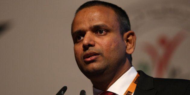 ABU DHABI - UNITED ARAB EMIRATES - DECEMBER 14: Indian Premier League COO Sundar Raman speaks during...