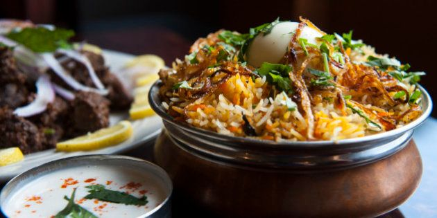 STERLING, VA - MAY 9: The hyderabadi chicken biryani is photographed at Akshaya Thursday May 9, 2013...