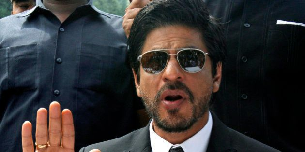 Bollywood star Shah Rukh Khan speaks during a press conference in Srinagar, India, Thursday, Sept. 6,...