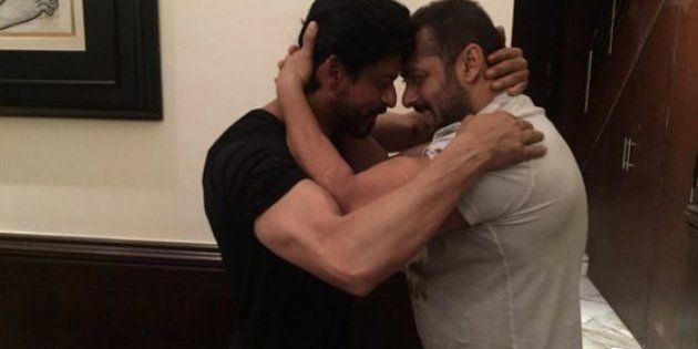 Shah Rukh Khan Shares Picture On Twitter Of Him Hugging Salman