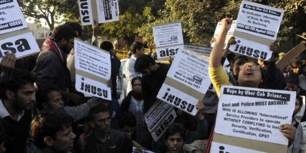 NEW DELHI, INDIA - DECEMBER 7: Jawaharlal Nehru University Students' Union (JNUSU) shout slogan against...