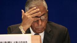 Slipper Hurled At Former National Security Advisor MK Narayanan By Pro-Tamil Activist In