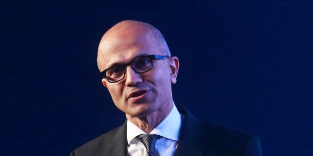 Microsoft CEO Satya Nadella delivers the keynote address at Microsoft's 'Future Unleashed' event...
